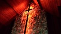 Close up Sanctuary Cross in the dark